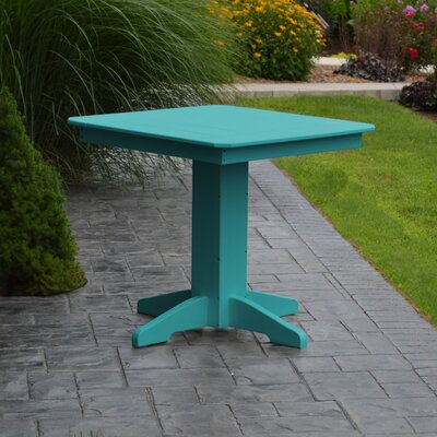 Nettie Dining Table Color: Aruba Blue, Table Size: 33 L x 33 W