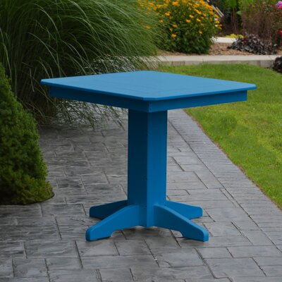 Nettie Dining Table Color: Blue, Table Size: 33 L x 33 W