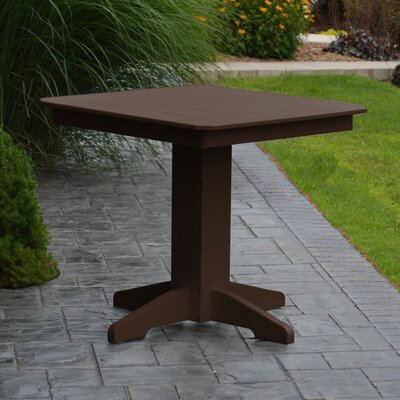 Nettie Dining Table Color: Tudor Brown, Table Size: 44 L x 44 W