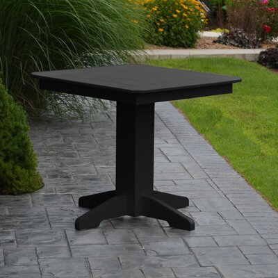 Nettie Dining Table Color: Black, Table Size: 44 L x 44 W