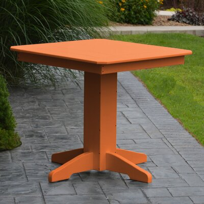 Nettie Dining Table Color: Orange, Table Size: 44 L x 44 W