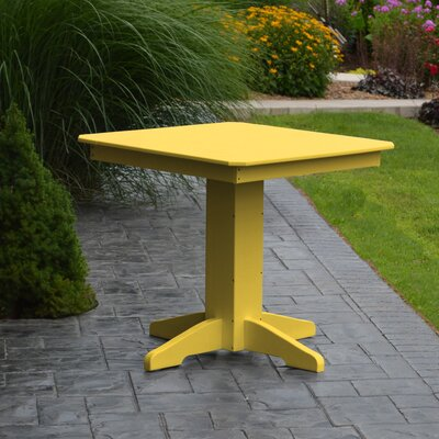 Nettie Dining Table Color: Lemon Yellow, Table Size: 33 L x 33 W