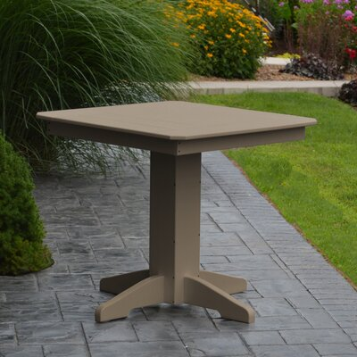 Nettie Dining Table Color: Weathered Wood, Table Size: 44 L x 44 W