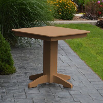 Nettie Dining Table Color: Cedar, Table Size: 44 L x 44 W