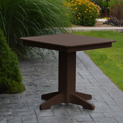 Nettie Dining Table Color: Tudor Brown, Table Size: 33 L x 33 W