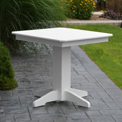 Nettie Dining Table Color: White, Table Size: 33 L x 33 W