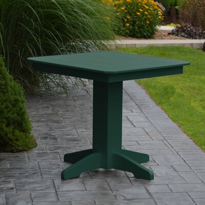 Nettie Dining Table Color: Turf Green, Table Size: 44 L x 44 W