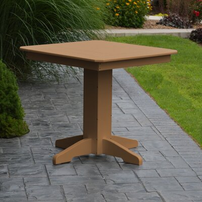 Nettie Dining Table Color: Cedar, Table Size: 33 L x 33 W