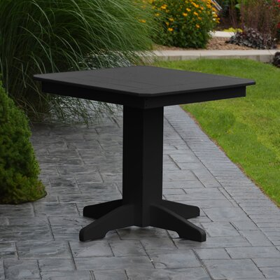 Nettie Dining Table Color: Black, Table Size: 33 L x 33 W