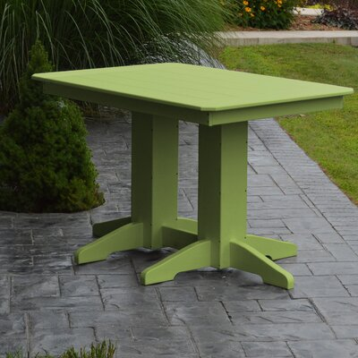 Nettie Dining Table Color: Lime Green, Table Size: 48 L x 33 W