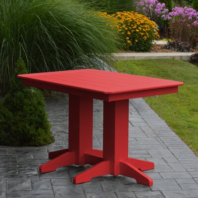 Nettie Dining Table Color: Bright Red, Table Size: 60 L x 33 W