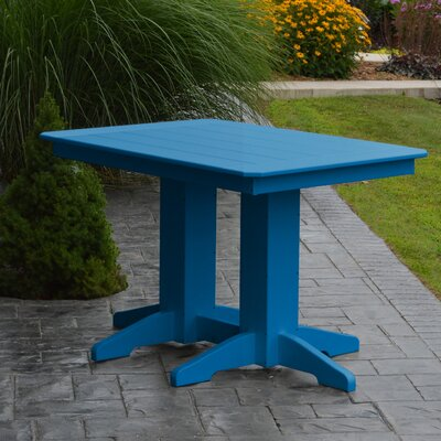 Nettie Dining Table Color: Blue, Table Size: 60 L x 33 W