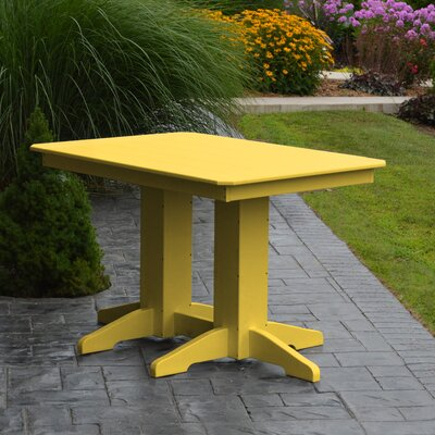Nettie Dining Table Color: Lemon Yellow, Table Size: 72 L x 33 W