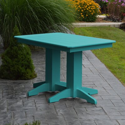 Nettie Dining Table Color: Aruba Blue, Table Size: 48 L x 33 W