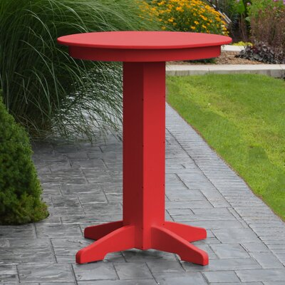 Nettie Bar Table Color: Bright Red, Table Size: 44 L x 44 W