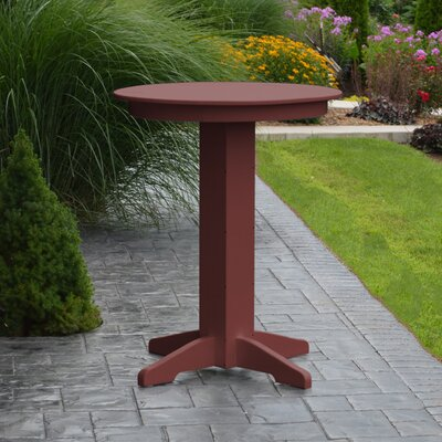 Nettie Bar Table Color: Cherrywood, Table Size: 44 L x 44 W