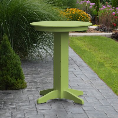 Nettie Bar Table Color: Lime Green, Table Size: 44 L x 44 W