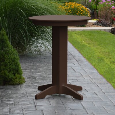 Nettie Bar Table Color: Tudor Brown, Table Size: 33 L x 33 W