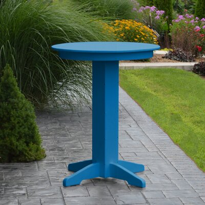 Nettie Bar Table Color: Blue, Table Size: 33 L x 33 W