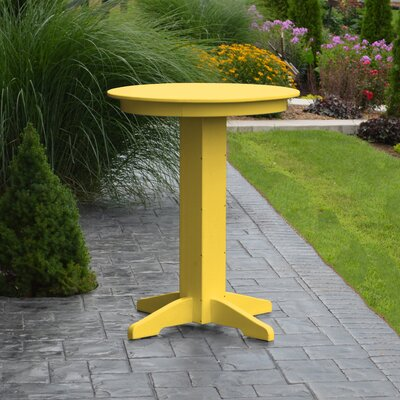 Nettie Bar Table Color: Lemon Yellow, Table Size: 44 L x 44 W