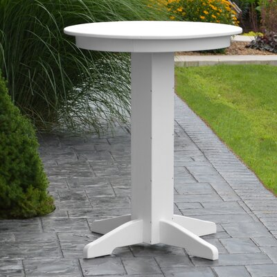 Nettie Bar Table Color: White, Table Size: 44 L x 44 W
