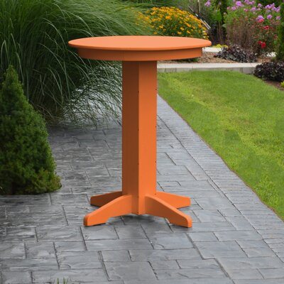 Nettie Bar Table Color: Orange, Table Size: 44 L x 44 W