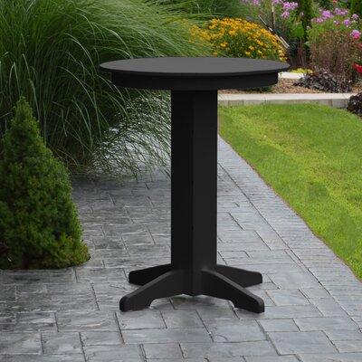 Nettie Bar Table Color: Black, Table Size: 33 L x 33 W