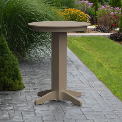 Nettie Bar Table Color: Weathered Wood, Table Size: 44 L x 44 W
