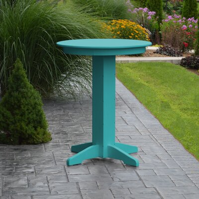 Nettie Bar Table Color: Aruba Blue, Table Size: 33 L x 33 W