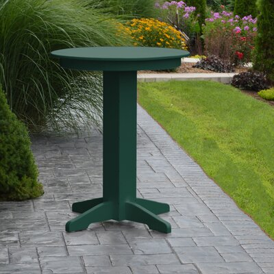 Nettie Bar Table Color: Turf Green, Table Size: 44 L x 44 W