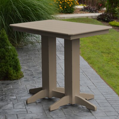 Nettie Bar Table Color: Weathered Wood, Table Size: 48 L x 33 W