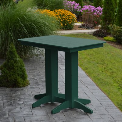 Nettie Bar Table Color: Turf Green, Table Size: 48 L x 33 W
