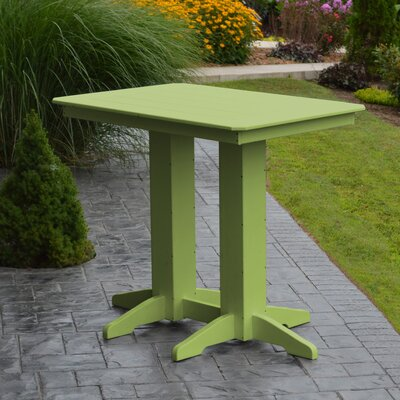 Nettie Bar Table Color: Lime Green, Table Size: 72 L x 33 W