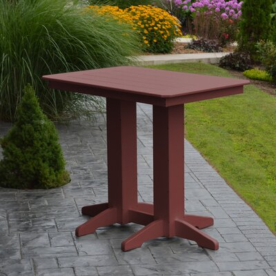 Nettie Bar Table Color: Cherrywood, Table Size: 72 L x 33 W