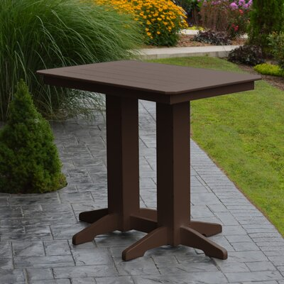 Nettie Bar Table Color: Tudor Brown, Table Size: 48 L x 33 W