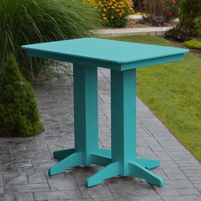 Nettie Bar Table Color: Aruba Blue, Table Size: 48 L x 33 W