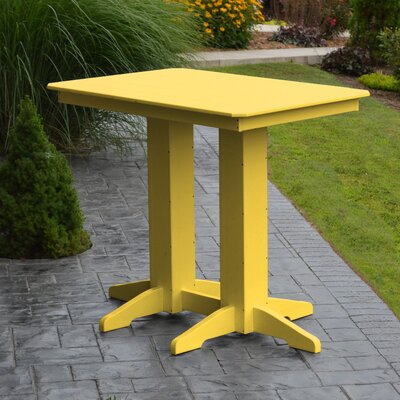Nettie Bar Table Color: Lemon Yellow