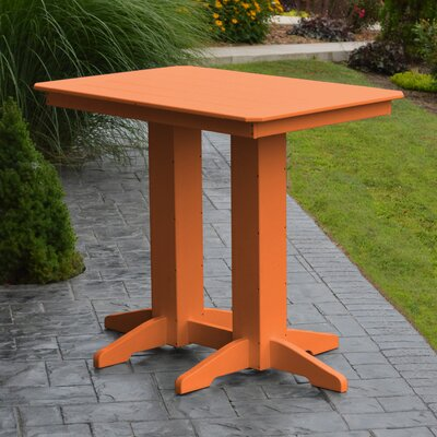 Nettie Bar Table Color: Orange, Table Size: 48 L x 33 W