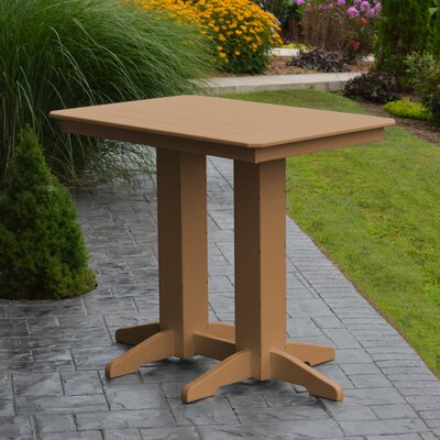 Nettie Bar Table Color: Cedar, Table Size: 48 L x 33 W