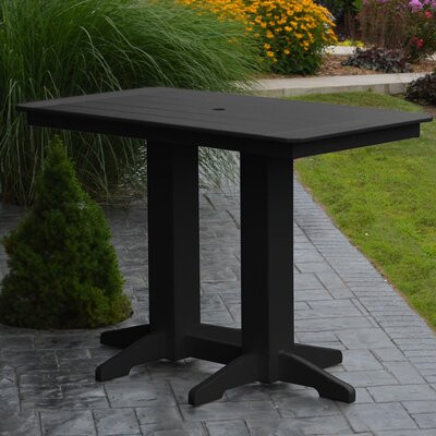 Nettie DiningTable Color: Black, Table Size: 72 L x 33 W
