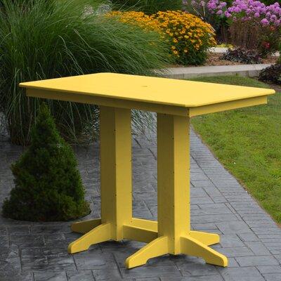 Nettie DiningTable Color: Lemon Yellow, Table Size: 60 L x 33 W