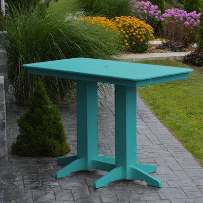 Nettie DiningTable Color: Aruba Blue, Table Size: 72 L x 33 W