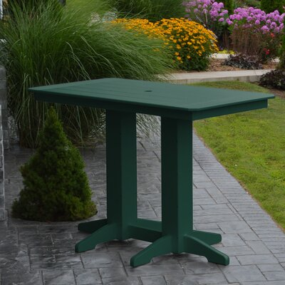 Nettie DiningTable Color: Turf Green, Table Size: 72 L x 33 W