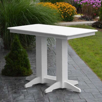 Nettie DiningTable Color: White, Table Size: 60 L x 33 W