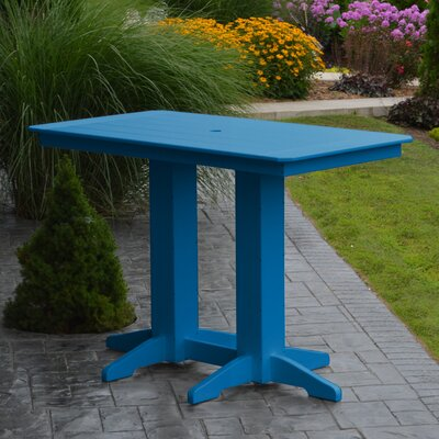 Nettie DiningTable Color: Blue