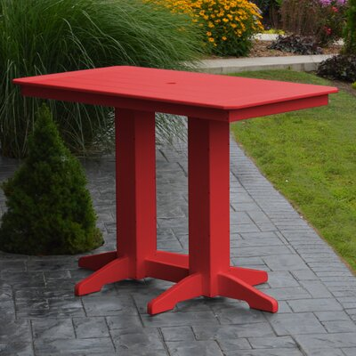Nettie DiningTable Color: Bright Red, Table Size: 72 L x 33 W