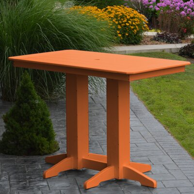 Nettie DiningTable Color: Orange