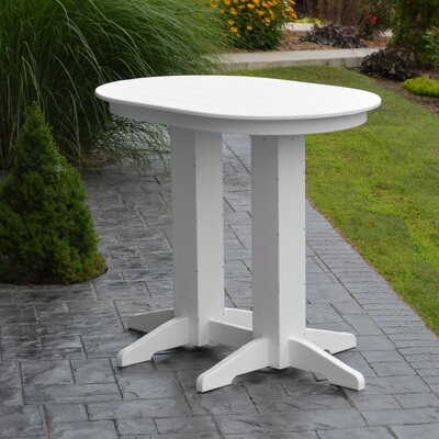 Nettie Bar Table Color: White