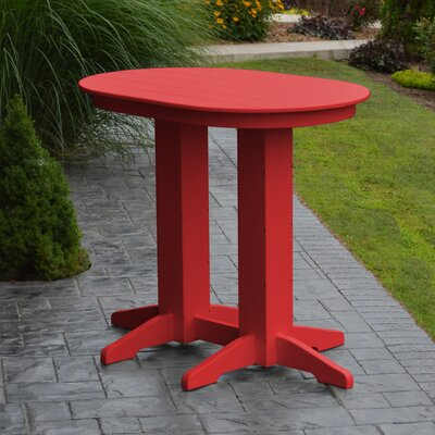Nettie Bar Table Color: Bright Red