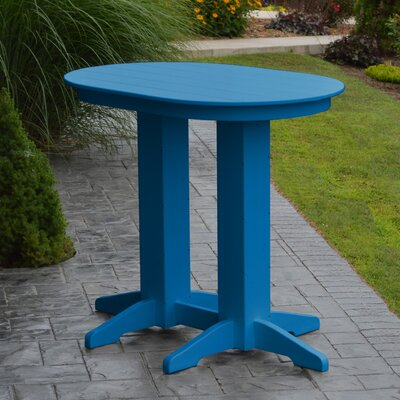 Nettie Bar Table Color: Blue